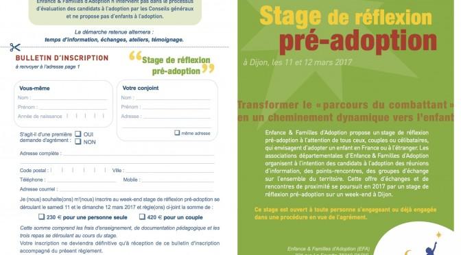 Stage pré-adoption